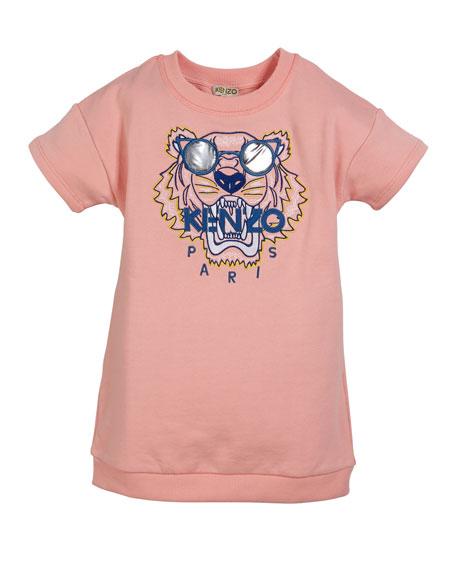 Kenzo Sunglasses Tiger Embroidered Sweatshirt Dress, Size 8-12