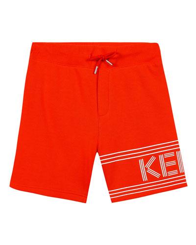 Fleece Logo Bermuda Shorts, Size 8-12