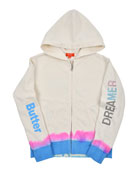 Butter Dreamer Tie Dye Zip-Up Jacket, Size 4-6