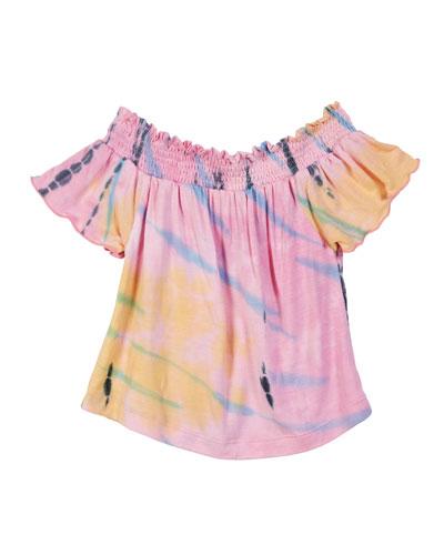 Tie Dye Off-the-Shoulder Top, Size S-XL