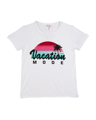 Vacation Mode Short-Sleeve Tee, Size S-XL