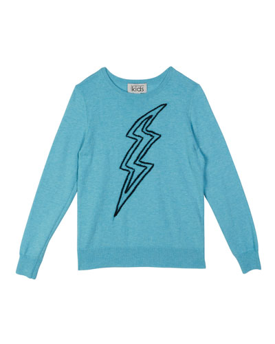 Lightning Bolt Embroidery Top, Size 8-14