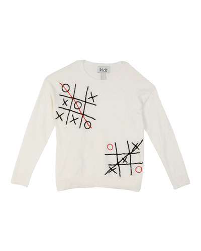 Tic Tac Toe Embroidered Top, Size 8-16