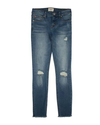 Girls' Christa Distressed Release-Hem Skinny Jeans, Size 4-6X