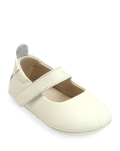 Charlotte Leather Mary Jane Crib Shoes, Baby