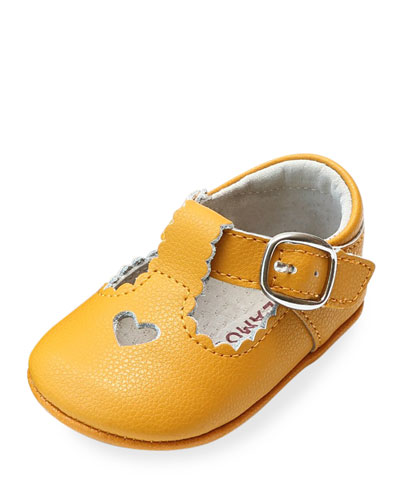 f7d63831fbd0 Quick Look. L Amour Shoes · Rosale Heart Cutout Leather Mary Jane Crib Shoes