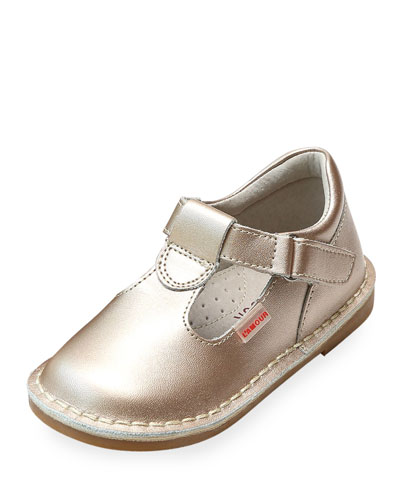 Alexis Metallic Leather T-Strap Mary Jane, Baby/Toddler/Kids