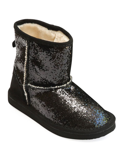 Glinda Sparkly Boots w/ Faux-Fur Lining, Baby/Toddler/Kids