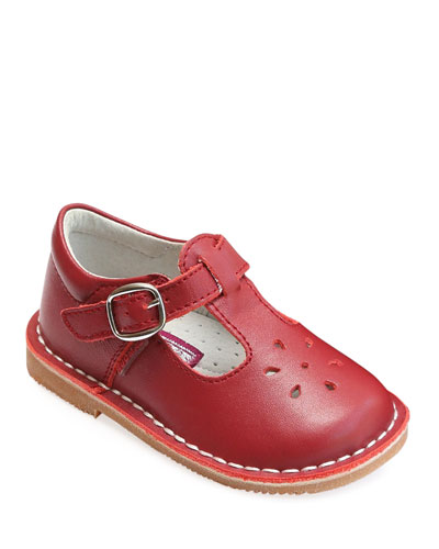 Joy Leather Cutout T-Strap Mary Jane, Baby/Toddler/Kids