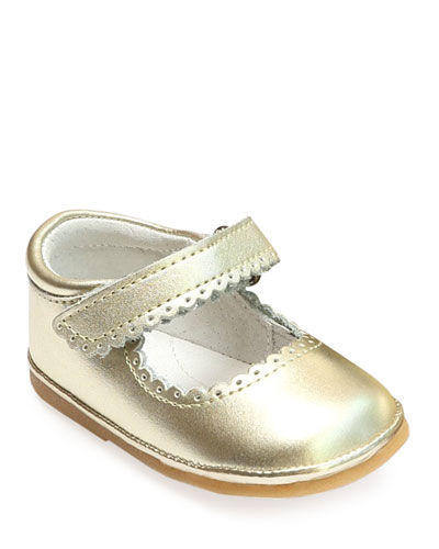 2d3494d233dd Quick Look. L Amour Shoes · Cara Scalloped Metallic Leather Mary Jane
