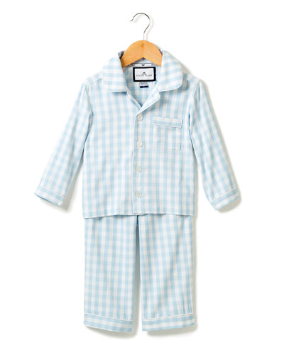 Gingham Pajama Set, Size 6M-14