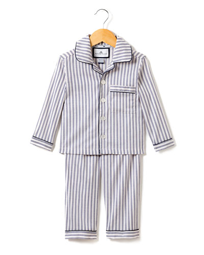 French Ticking Pajama Set, Size 2-10