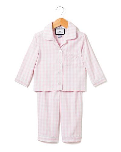 Gingham Pajama Set, Size 6M-14