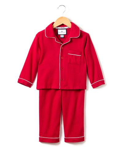 Classic Flannel Pajama Set, Size 6M-14