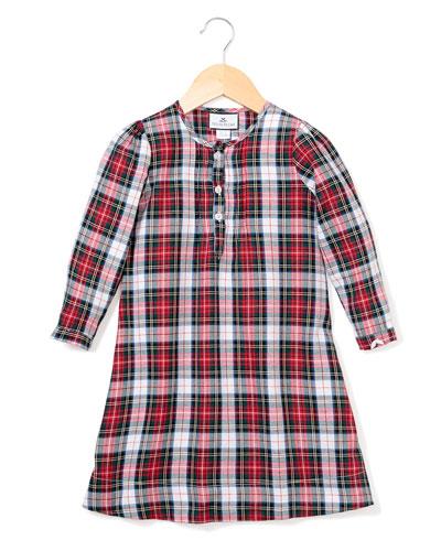 Beatrice Festive Tartan Nightgown, Size 6M-14