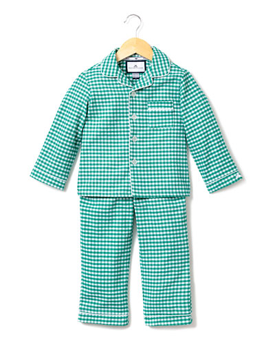 Gingham Flannel Pajama Set, Size 2-10