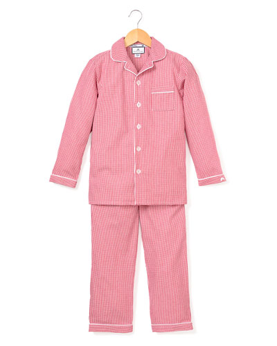 Mini Gingham Pajama Set, Size 6M-14