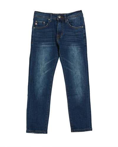Boys' Stryker AG-ed Slim Straight Denim Jeans, Size 8-16