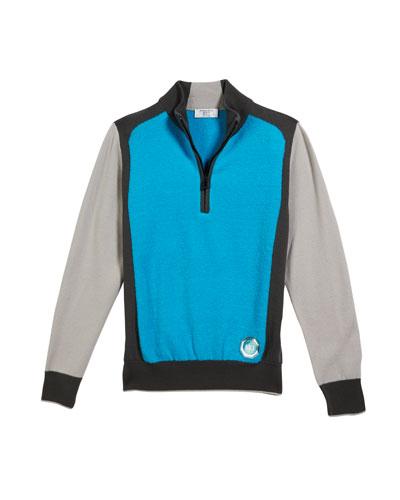 Colorblock Mock-Neck Sweater, Size 10-14