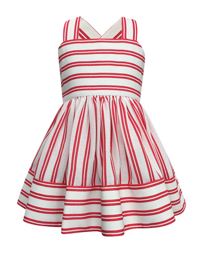 Striped Sun Dress, Size 7-14