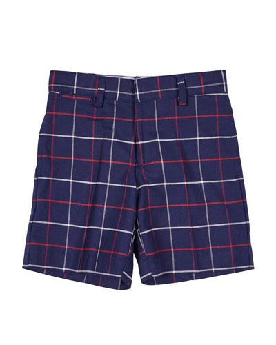Plaid Bermuda Shorts, Size 2-4T