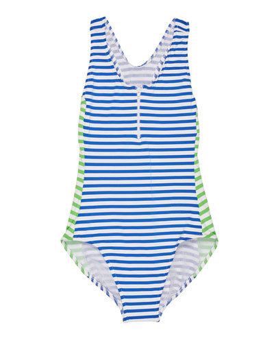 Stripe Y-Back One-Piece Swimsuit, Size 7-14