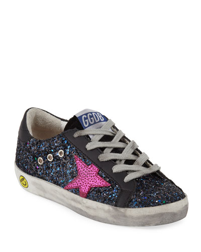 Superstar Glittered Low-Top Sneakers, Toddler/Kids