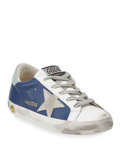 Superstar Leather & Suede Low-Top Sneakers, Toddler/Kids