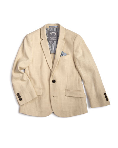 Linen-Blend Sports Jacket, Size 2-14