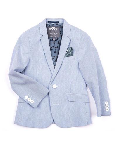 35d6cda344 Quick Look. Appaman · Striped Cotton Blazer Jacket, Size ...
