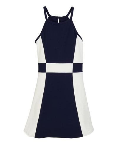 The Peggy Colorblock Halter Dress, Size S-XL