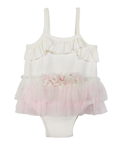 Ruffle Tutu One-Piece Swimsuit, Size 3-24 Months