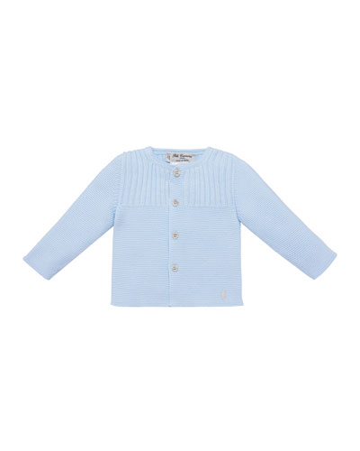 Knit Cotton Cardigan, Size 3M-2