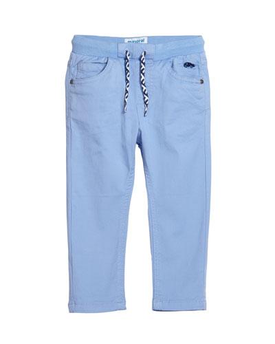 Boys' Drawstring Straight-Leg Pants, Size 12-36 Months