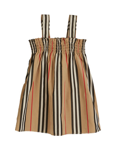 Junia Icon Stripe Smocked Sun Dress, Size 6M-2