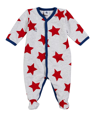 10efd572cd2 Quick Look. Petit Bateau · Star-Print Footie Pajamas