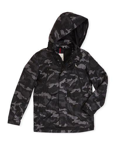 Ribble Hooded Camo Jacket, Size 8-14