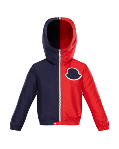 Two-Tone Hooded Jacket, Size 8-14