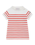 Moncler Striped Short-Sleeve Dress, Size 12M-3
