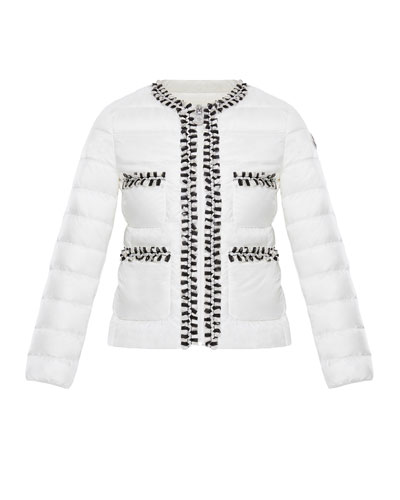 57799e8d5 Quick Look. Moncler · Loop-Trim Quilted Jacket, Size ...