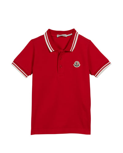 Polo Shirt w/ Striped Tipping, Size 4-6