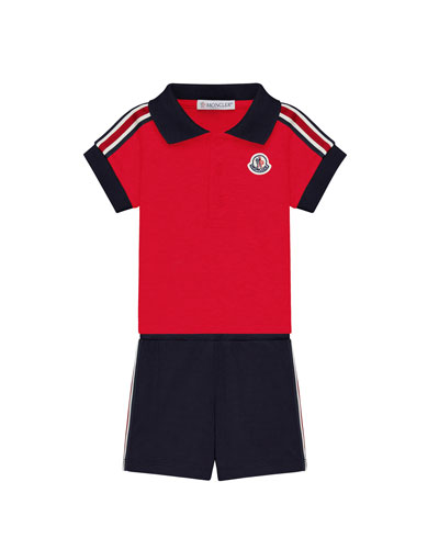Polo Shirt & Shorts Set, Size 3-24 Month