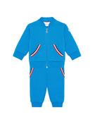 Moncler Striped-Trim Sweat Suit Set, Size 12M-3