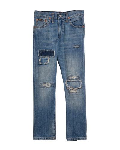Sullivan Distressed Denim Jeans, Size 5-7