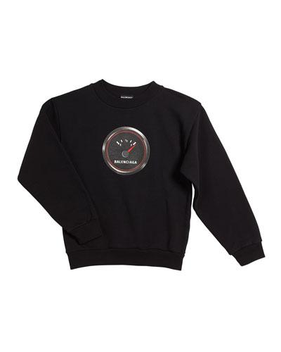Gas Gauge Logo Sweatshirt, Size 2-10