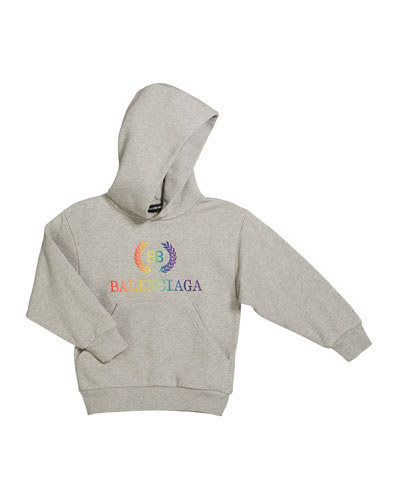 Rainbow Logo Crest Hoodie, Size 2-10