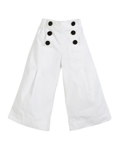 Taren Wide Legs Sailor Pants, Size 3-14