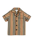 Burberry Andres Icon Stripe Short-Sleeve Top, Size 3-14