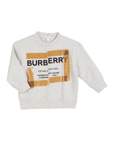 Patch Logo Sweatshirt, Size 3-14
