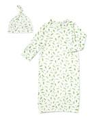 Angel Dear Sweet Pea Sleeping Gown w/ Matching
